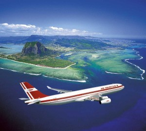Air Mauritius on its way to Mauritius